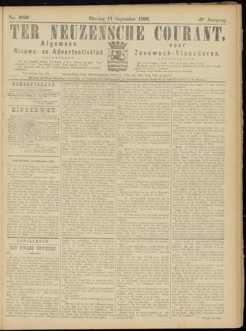 Ter Neuzensche Courant. Algemeen Nieuws- en Advertentieblad voor Zeeuwsch-Vlaanderen / Neuzensche Courant ... (idem) / (Algemeen) nieuws en advertentieblad voor Zeeuwsch-Vlaanderen 1906-09-11