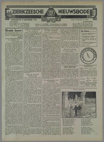 Zierikzeesche Nieuwsbode 1937-12-09