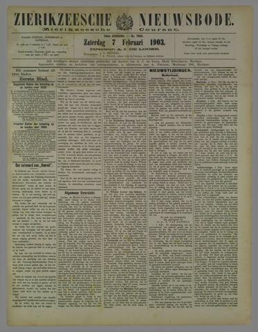Zierikzeesche Nieuwsbode 1903-02-07