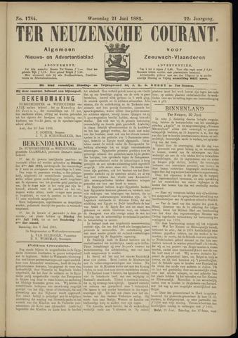 Ter Neuzensche Courant. Algemeen Nieuws- en Advertentieblad voor Zeeuwsch-Vlaanderen / Neuzensche Courant ... (idem) / (Algemeen) nieuws en advertentieblad voor Zeeuwsch-Vlaanderen 1882-06-21