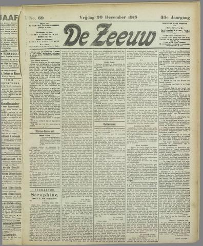 De Zeeuw. Christelijk-historisch nieuwsblad voor Zeeland 1918-12-20