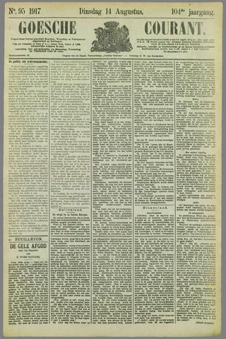 Goessche Courant 1917-08-14