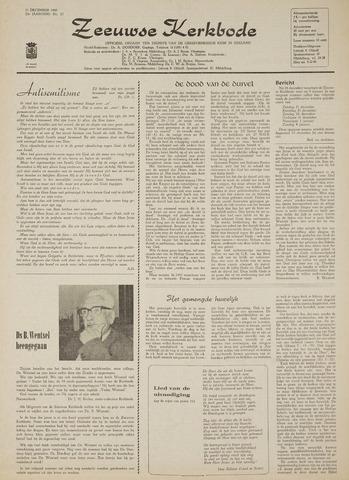Zeeuwsche kerkbode, weekblad gewijd aan de belangen der gereformeerde kerken/ Zeeuwsch kerkblad 1969-12-11