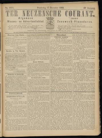 Ter Neuzensche Courant. Algemeen Nieuws- en Advertentieblad voor Zeeuwsch-Vlaanderen / Neuzensche Courant ... (idem) / (Algemeen) nieuws en advertentieblad voor Zeeuwsch-Vlaanderen 1903-12-17