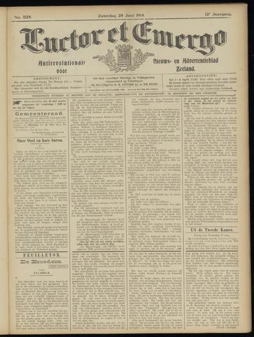 Luctor et Emergo. Antirevolutionair nieuws- en advertentieblad voor Zeeland / Zeeuwsch-Vlaanderen. Orgaan ter verspreiding van de christelijke beginselen in Zeeuwsch-Vlaanderen 1914-06-20