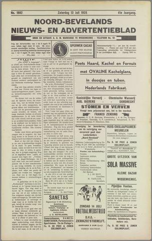 Noord-Bevelands Nieuws- en advertentieblad 1935-07-13