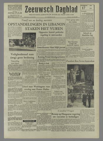 Zeeuwsch Dagblad 1958-07-17