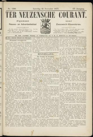 Ter Neuzensche Courant. Algemeen Nieuws- en Advertentieblad voor Zeeuwsch-Vlaanderen / Neuzensche Courant ... (idem) / (Algemeen) nieuws en advertentieblad voor Zeeuwsch-Vlaanderen 1877-11-24