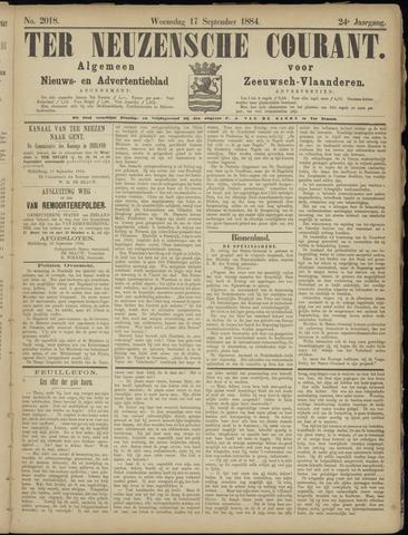 Ter Neuzensche Courant. Algemeen Nieuws- en Advertentieblad voor Zeeuwsch-Vlaanderen / Neuzensche Courant ... (idem) / (Algemeen) nieuws en advertentieblad voor Zeeuwsch-Vlaanderen 1884-09-17