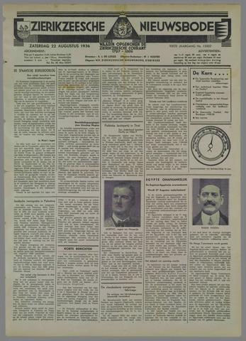 Zierikzeesche Nieuwsbode 1936-08-22