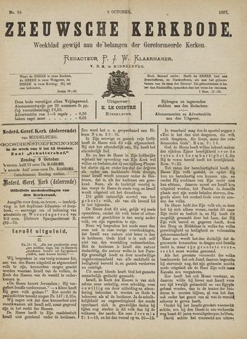 Zeeuwsche kerkbode, weekblad gewijd aan de belangen der gereformeerde kerken/ Zeeuwsch kerkblad 1887-10-08