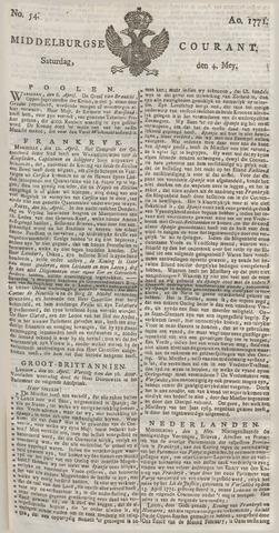 Middelburgsche Courant 1771-05-04