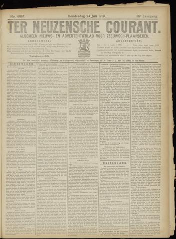 Ter Neuzensche Courant. Algemeen Nieuws- en Advertentieblad voor Zeeuwsch-Vlaanderen / Neuzensche Courant ... (idem) / (Algemeen) nieuws en advertentieblad voor Zeeuwsch-Vlaanderen 1919-07-24