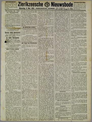 Zierikzeesche Nieuwsbode 1921-05-09