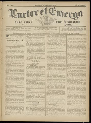 Luctor et Emergo. Antirevolutionair nieuws- en advertentieblad voor Zeeland / Zeeuwsch-Vlaanderen. Orgaan ter verspreiding van de christelijke beginselen in Zeeuwsch-Vlaanderen 1917-09-05