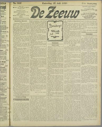 De Zeeuw. Christelijk-historisch nieuwsblad voor Zeeland 1920-07-10