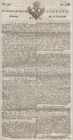 Middelburgsche Courant 1768-11-22