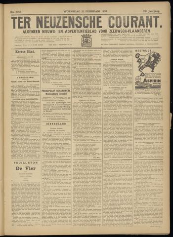 Ter Neuzensche Courant. Algemeen Nieuws- en Advertentieblad voor Zeeuwsch-Vlaanderen / Neuzensche Courant ... (idem) / (Algemeen) nieuws en advertentieblad voor Zeeuwsch-Vlaanderen 1933-02-22