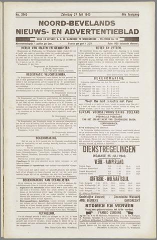 Noord-Bevelands Nieuws- en advertentieblad 1940-07-27