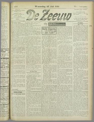 De Zeeuw. Christelijk-historisch nieuwsblad voor Zeeland 1921-07-27