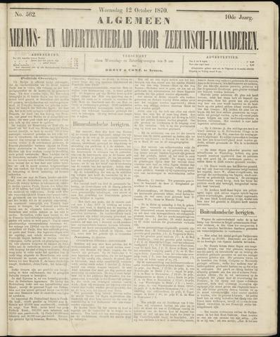 Ter Neuzensche Courant. Algemeen Nieuws- en Advertentieblad voor Zeeuwsch-Vlaanderen / Neuzensche Courant ... (idem) / (Algemeen) nieuws en advertentieblad voor Zeeuwsch-Vlaanderen 1870-10-12