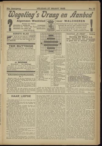 Zeeuwsch Nieuwsblad/Wegeling's Nieuwsblad 1925-03-27