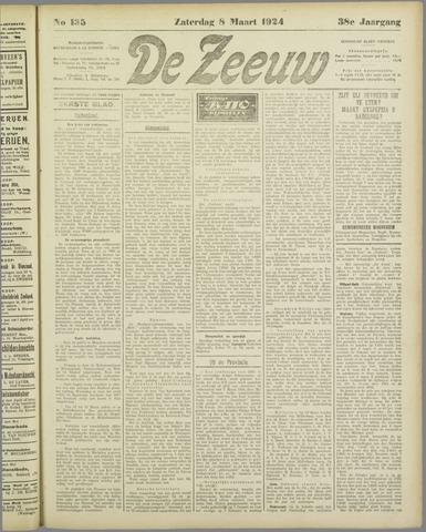 De Zeeuw. Christelijk-historisch nieuwsblad voor Zeeland 1924-03-08