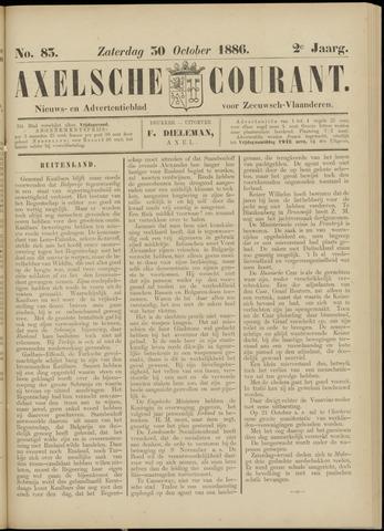 Axelsche Courant 1886-10-30