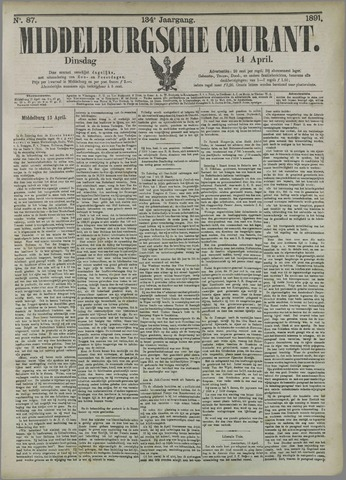 Middelburgsche Courant 1891-04-14