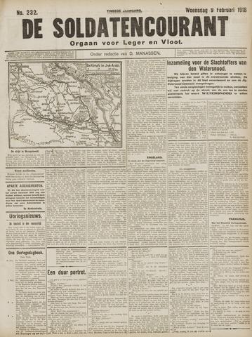 De Soldatencourant. Orgaan voor Leger en Vloot 1916-02-09