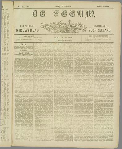 De Zeeuw. Christelijk-historisch nieuwsblad voor Zeeland 1895-09-07