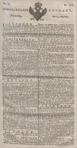Middelburgsche Courant 1777-08-14
