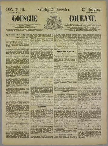 Goessche Courant 1885-11-28