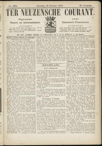 Ter Neuzensche Courant. Algemeen Nieuws- en Advertentieblad voor Zeeuwsch-Vlaanderen / Neuzensche Courant ... (idem) / (Algemeen) nieuws en advertentieblad voor Zeeuwsch-Vlaanderen 1879-10-18