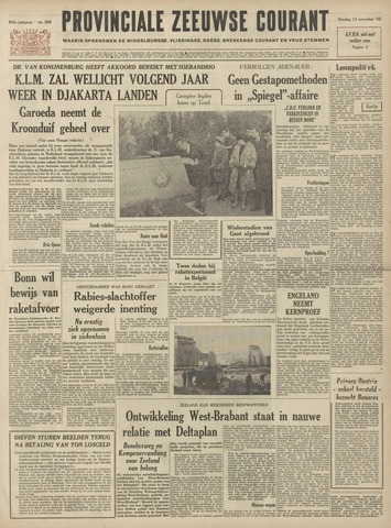 Provinciale Zeeuwse Courant 1962-11-13