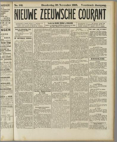 Nieuwe Zeeuwsche Courant 1918-11-28