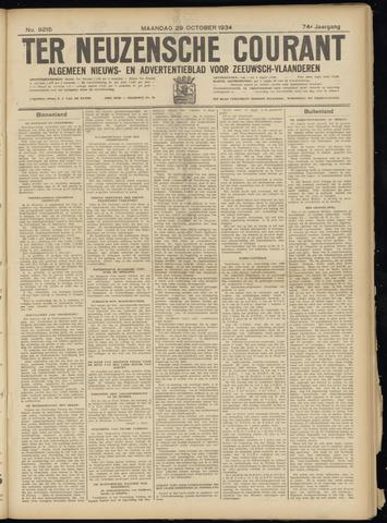 Ter Neuzensche Courant. Algemeen Nieuws- en Advertentieblad voor Zeeuwsch-Vlaanderen / Neuzensche Courant ... (idem) / (Algemeen) nieuws en advertentieblad voor Zeeuwsch-Vlaanderen 1934-10-29