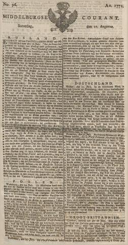 Middelburgsche Courant 1771-08-10