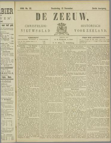 De Zeeuw. Christelijk-historisch nieuwsblad voor Zeeland 1888-12-13