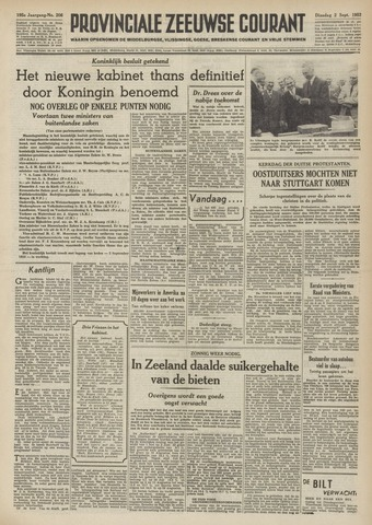 Provinciale Zeeuwse Courant 1952-09-02