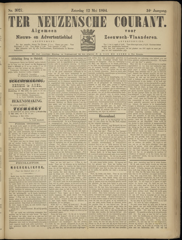 Ter Neuzensche Courant. Algemeen Nieuws- en Advertentieblad voor Zeeuwsch-Vlaanderen / Neuzensche Courant ... (idem) / (Algemeen) nieuws en advertentieblad voor Zeeuwsch-Vlaanderen 1894-05-12