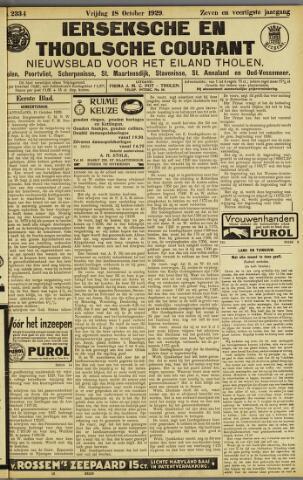 Ierseksche en Thoolsche Courant 1929-10-18