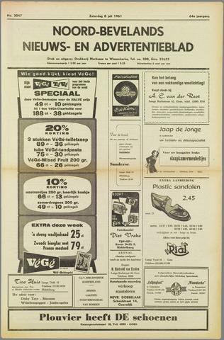 Noord-Bevelands Nieuws- en advertentieblad 1961-07-08