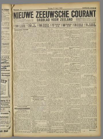 Nieuwe Zeeuwsche Courant 1922-04-21