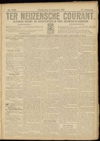Ter Neuzensche Courant. Algemeen Nieuws- en Advertentieblad voor Zeeuwsch-Vlaanderen / Neuzensche Courant ... (idem) / (Algemeen) nieuws en advertentieblad voor Zeeuwsch-Vlaanderen 1918-08-15