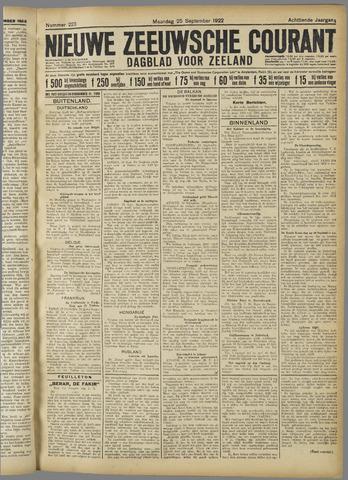 Nieuwe Zeeuwsche Courant 1922-09-25