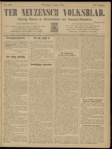 Ter Neuzensch Volksblad. Vrijzinnig nieuws- en advertentieblad voor Zeeuwsch- Vlaanderen / Zeeuwsch Nieuwsblad. Nieuws- en advertentieblad voor Zeeland 1917-01-17