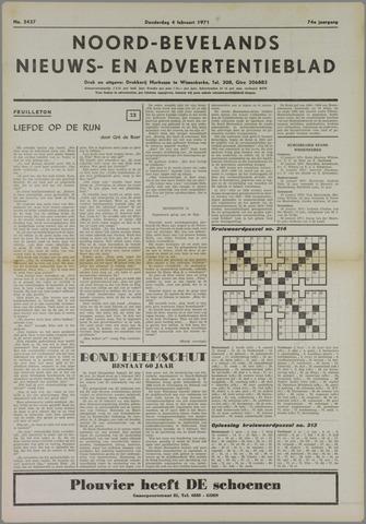 Noord-Bevelands Nieuws- en advertentieblad 1971-02-04