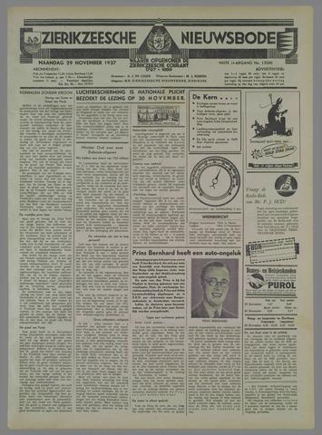 Zierikzeesche Nieuwsbode 1937-11-29