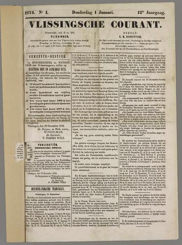 Vlissingse Courant 1874